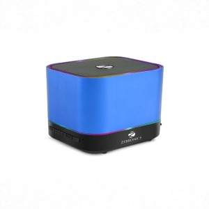 Zebronics ZEB - DICE 3 W Bluetooth Speaker  (Blue, Mono Channel)